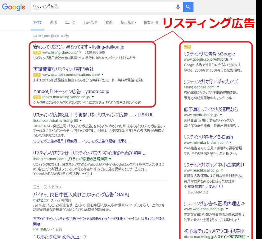 listing ads google