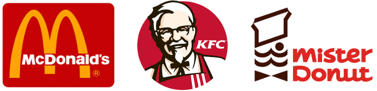 fastfood ファーストフード マクドナルド ケンタッキー ミスタードーナツ ミスド
