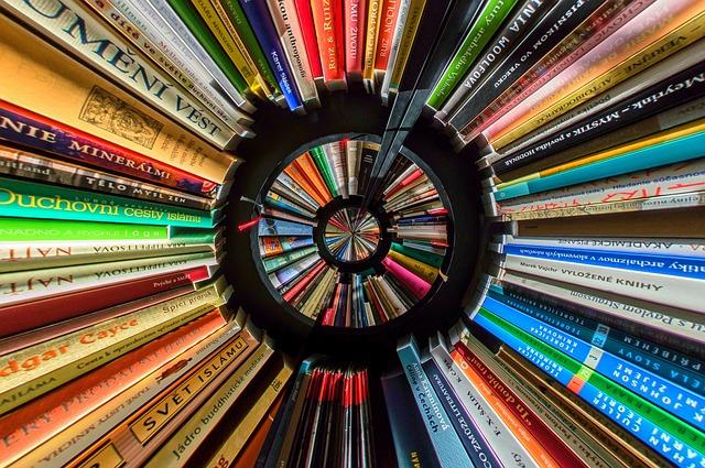 円状に囲む本