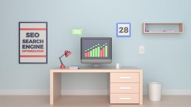 パソコンの作業部屋