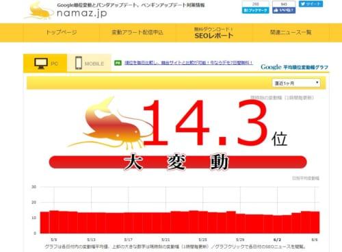 namazのトップ画面