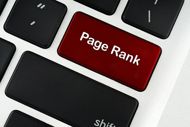 PageRankと書かれたキーボード