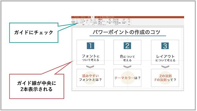 ガイド線表示の手引1