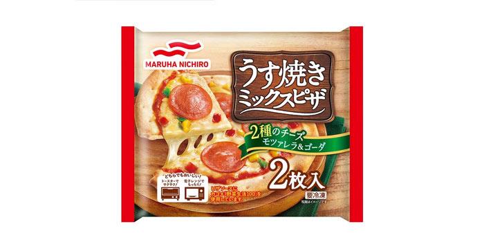冷凍ピザ⑬:マルハニチロ 薄焼きミックスピザ