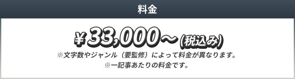 33000円(税込)~